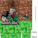 Sacolinha Lembrancinha Minecraft A4 - Parte 1