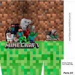Sacolinha Lembrancinha Minecraft A4 - Parte 2