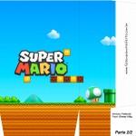 Sacolinha Lembrancinha Super Mario 1up Cogumelo Verde A4 - Parte 2