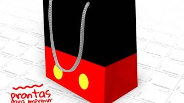 Sacolinha Surpresa Mickey Mouse para Imprimir