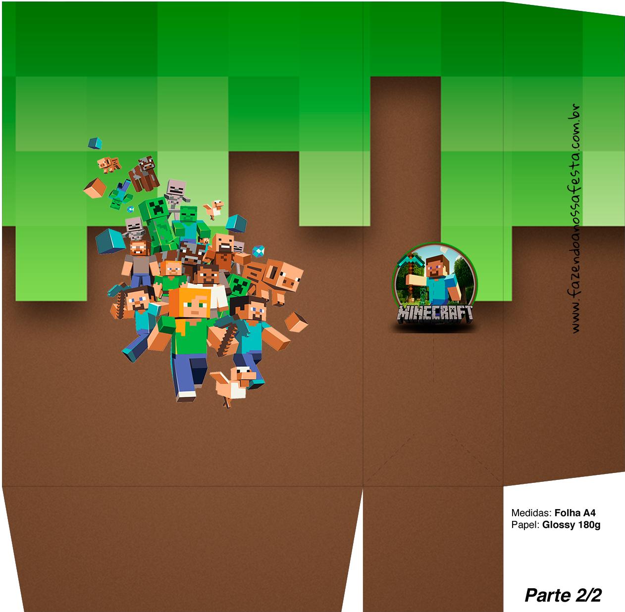 Sacolinha Surpresa Minecraft 2 - A4 Parte 2