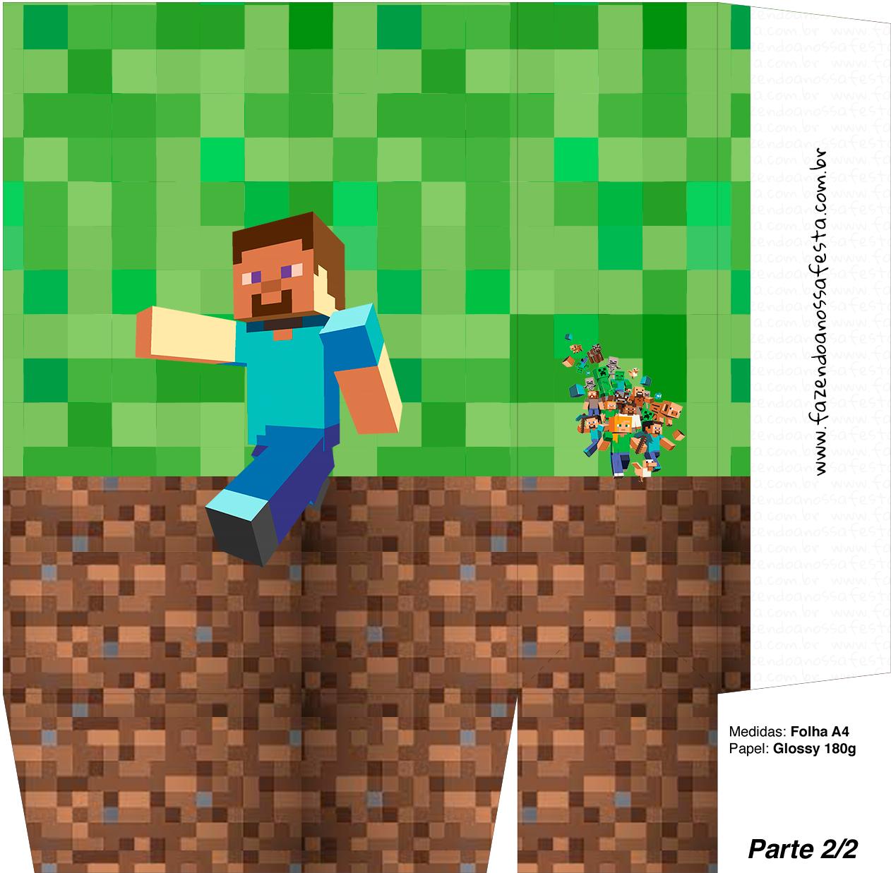 Sacolinha Surpresa Minecraft 3 - A4 Parte 2