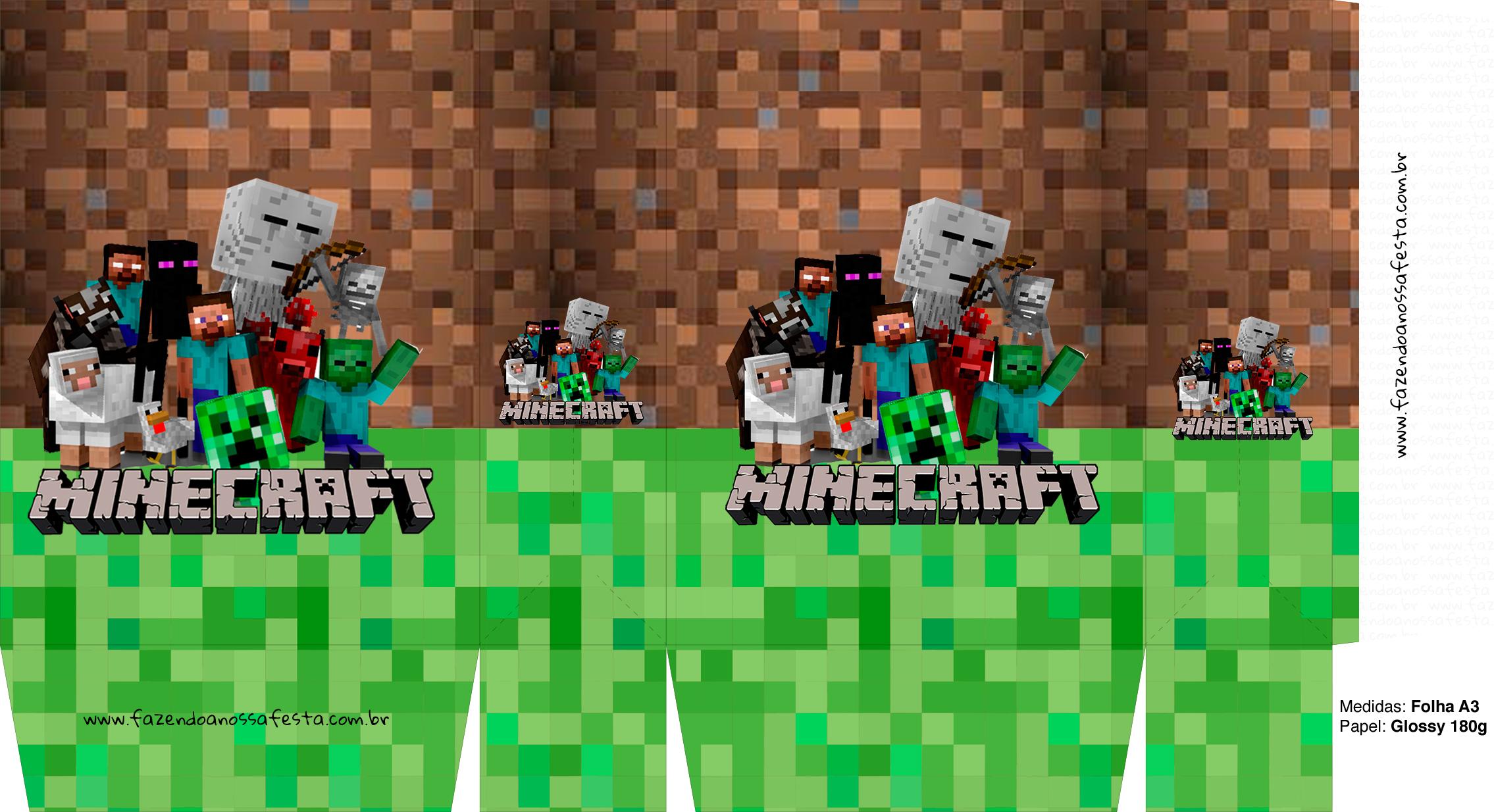 Letras Minegraft Fazendo A Nossa Festa: Sacolinha Surpresa Minecraft A3 4