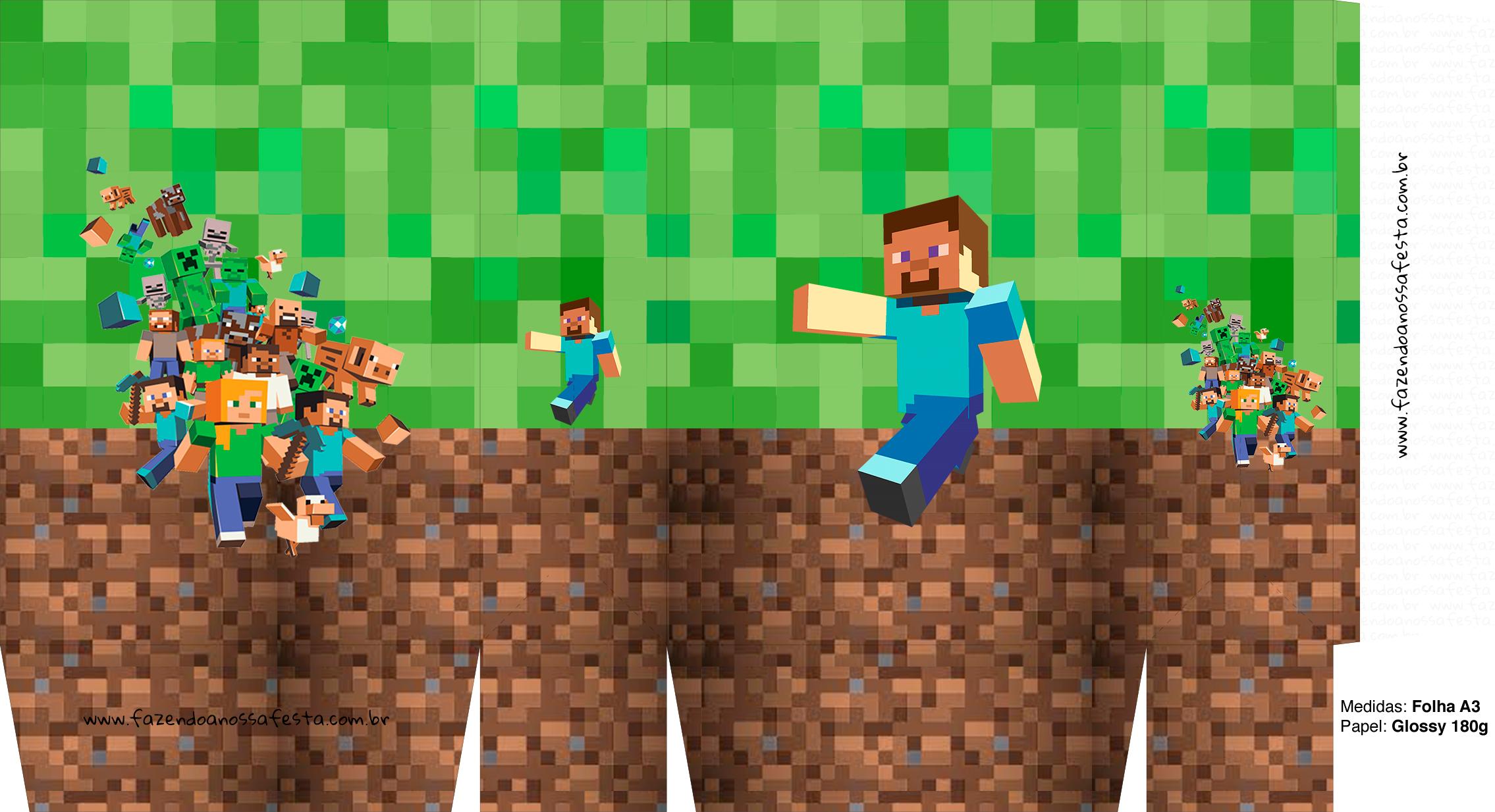 Letras Minegraft Fazendo A Nossa Festa: Sacolinha Surpresa Minecraft A3 6