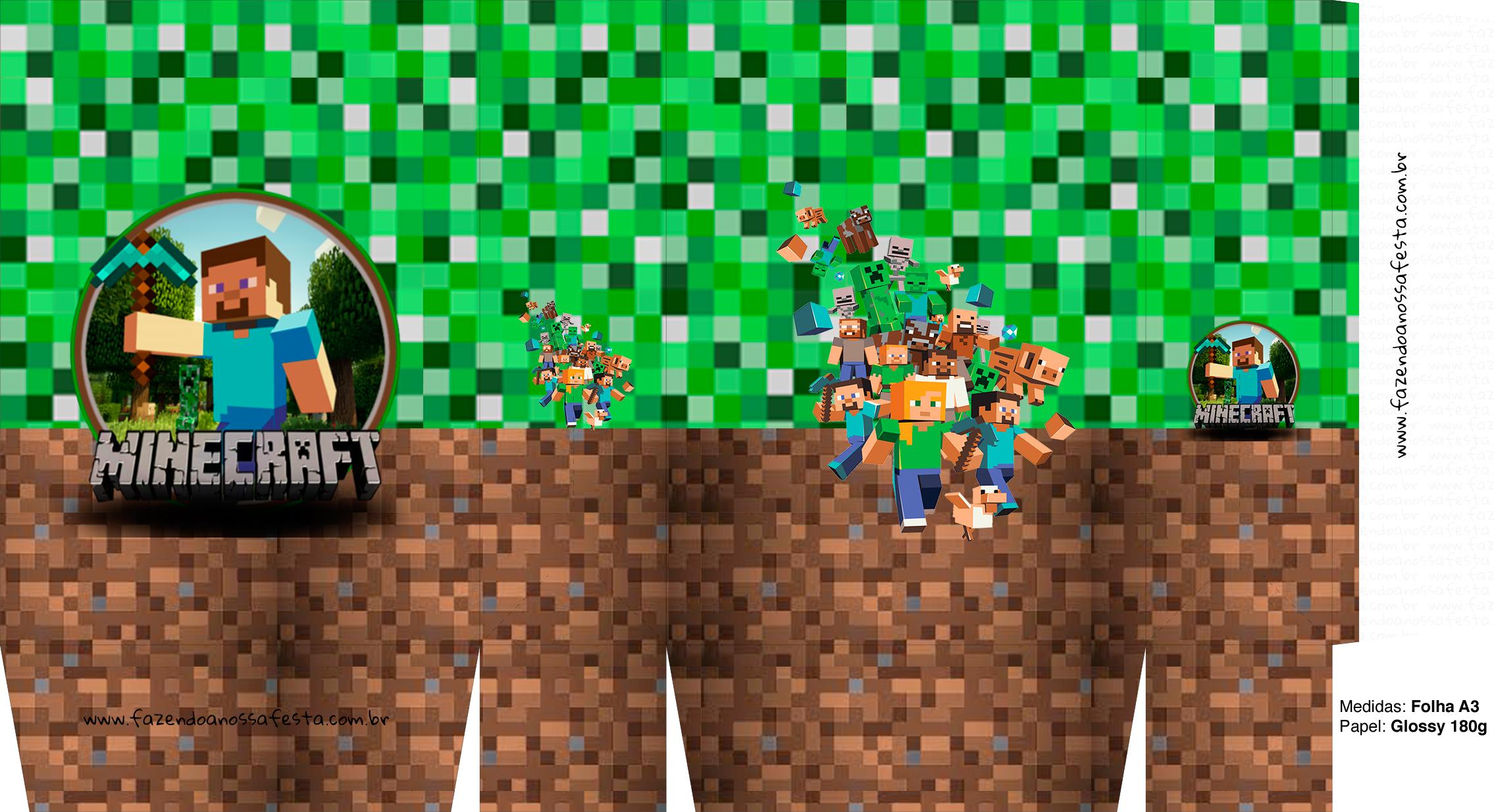 Letras Minegraft Fazendo A Nossa Festa: Sacolinha Surpresa Minecraft A3