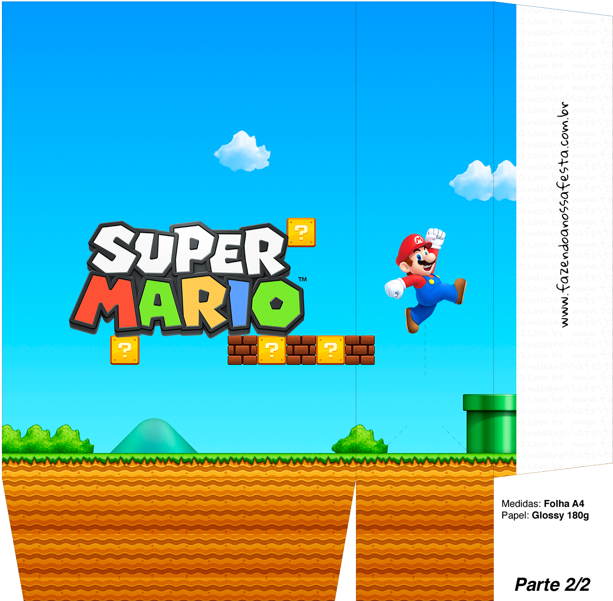Sacolinha Surpresa Super Mario A4 - Parte 2