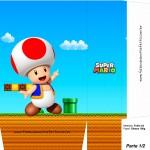 Sacolinhas Lembrancinha Super Mario Toad A4 - Parte 1