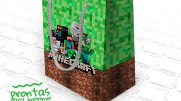 Sacolinhas Surpresa do Minecraft