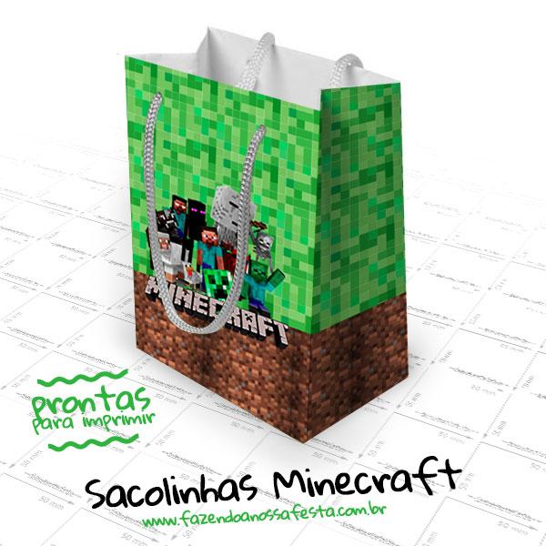 Sacolinhas Surpresa Do Minecraft Gratis Para Imprimir