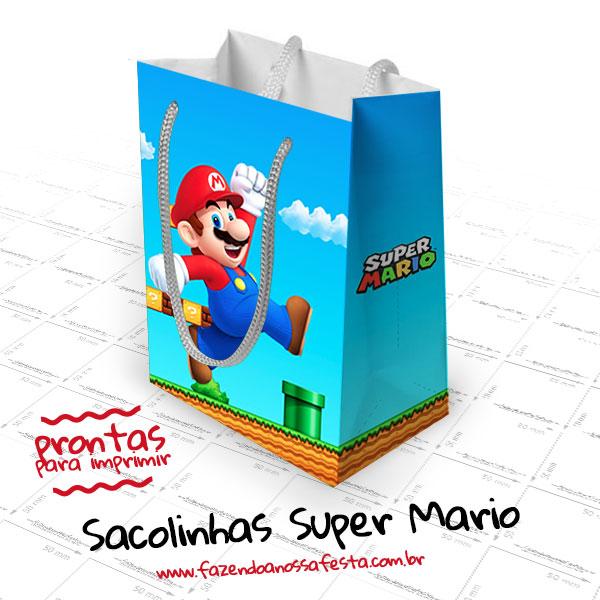 Sacolinhas Super Mario Modelo