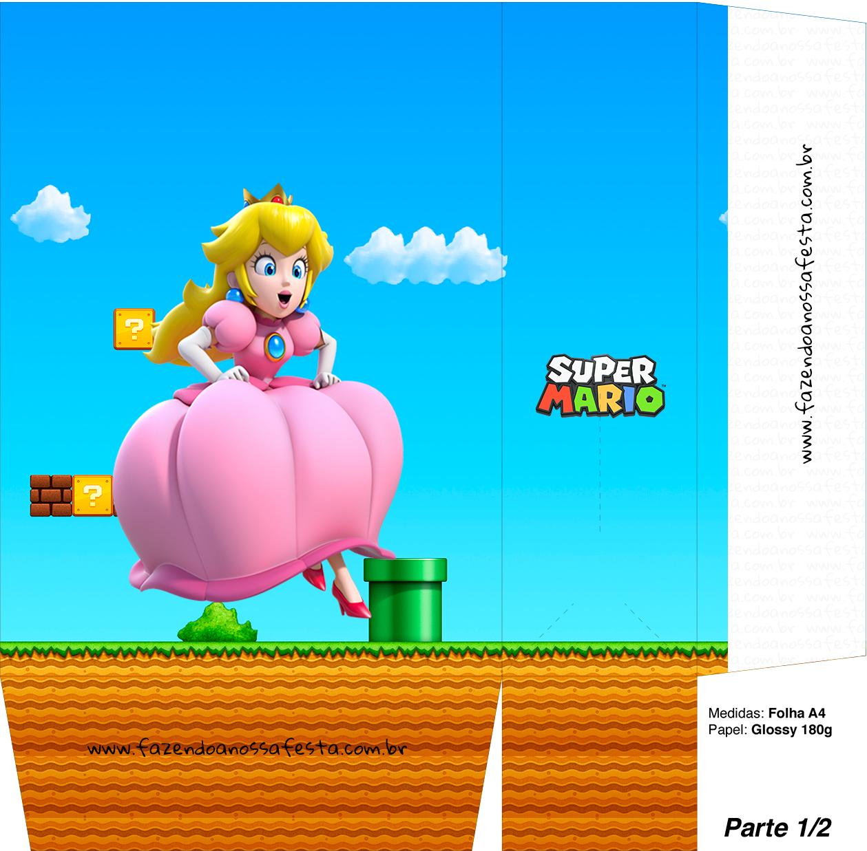 Sacolinhas Super Mario Princesa Peace A4 - Parte 1