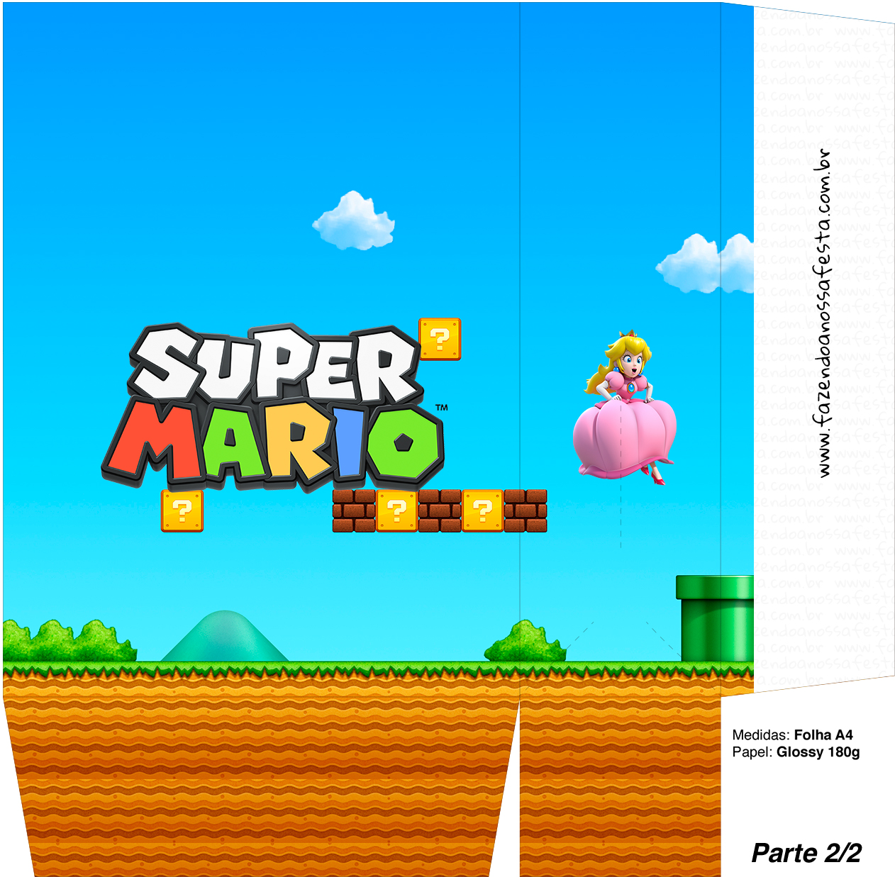 Sacolinhas Super Mario Princesa Peace A4 - Parte 2