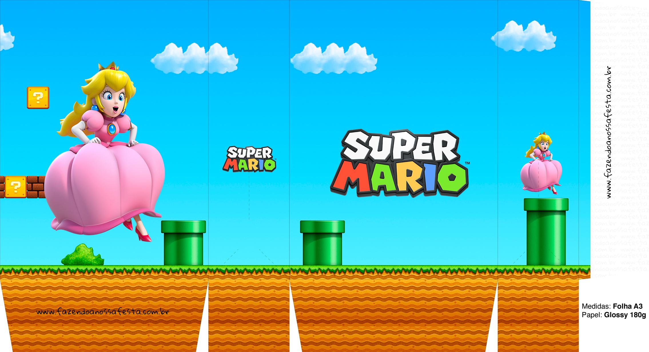 Sacolinhas Supresa Super Mario Princesa Peace A3
