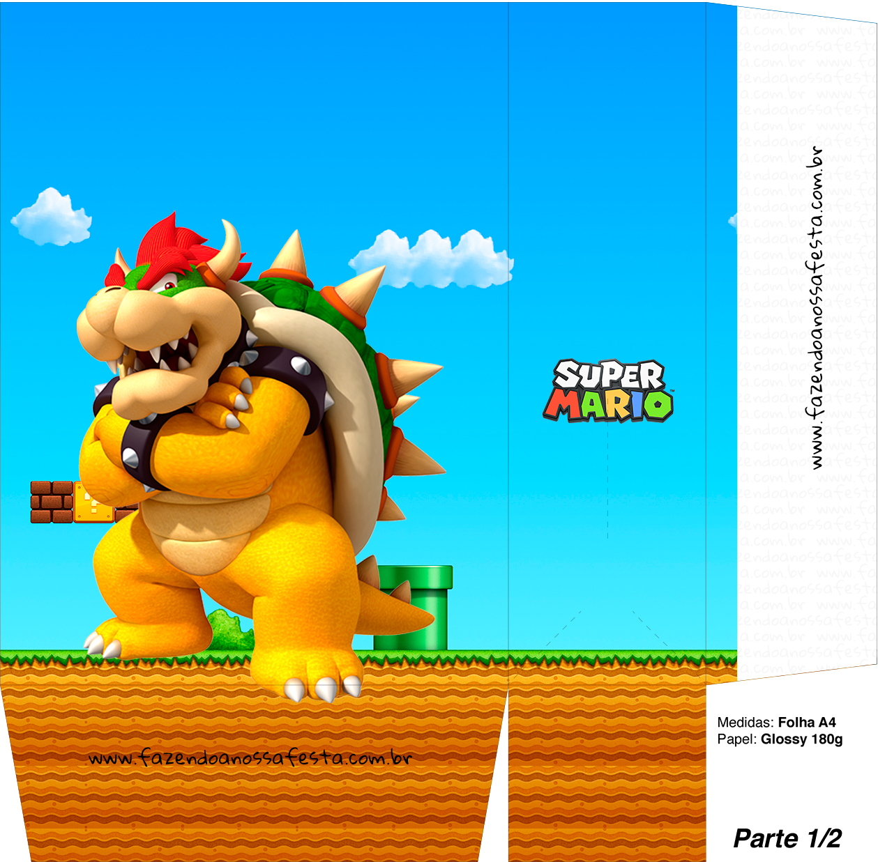 Sacolinhas Surpresa Super Mario Browser A4 - Parte 1