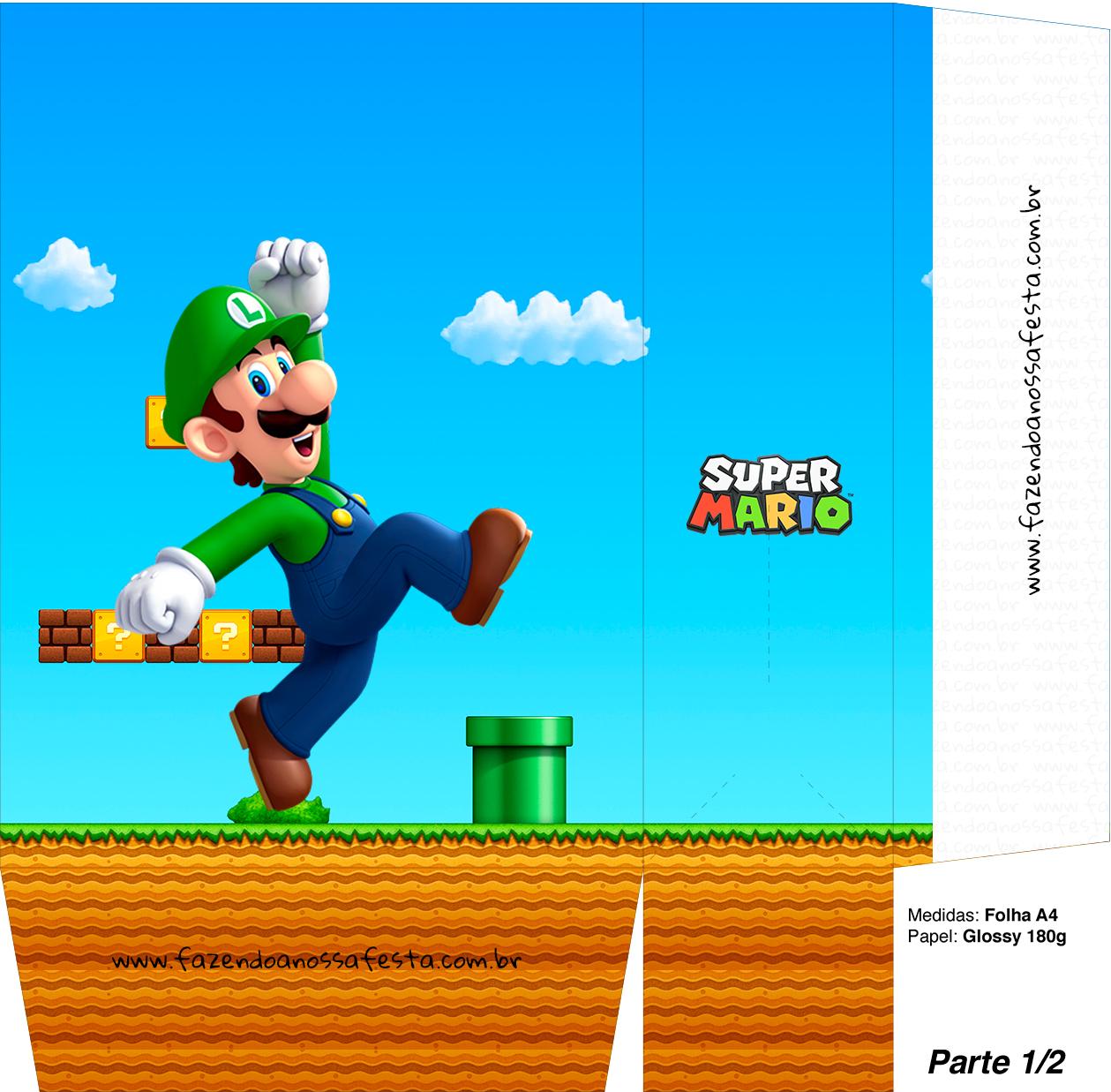 Sacolinhas Surpresa Super Mario Luigi A4 - Parte 1
