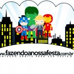 Saias Wrappers para Cupcakes 2 Kit Festa Vingadores Cute