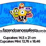 Saias Wrappers para Cupcakes 2 Minions Super-Heróis