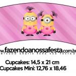 Saias Wrappers para Cupcakes 2 Minions para Meninas