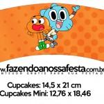 Saias Wrappers para Cupcakes 2 o Incrível Mundo de Gumball