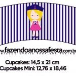 Saias Wrappers para Cupcakes Menina Marinheira Loira 2