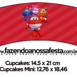 Saias Wrappers para Cupcakes Super Wings
