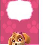 Tag Agradecimento Patrulha Canina para Meninas