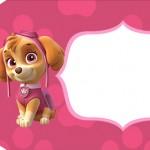 Tag Agradecimento pequena Patrulha Canina para Meninas