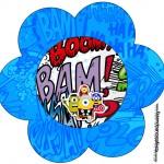 Topper Flor Minions Super-Heróis