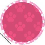 Toppers para docinhos Limpo Patrulha Canina para Meninas