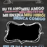 Chalkboard Lousa Dia Dos Pais