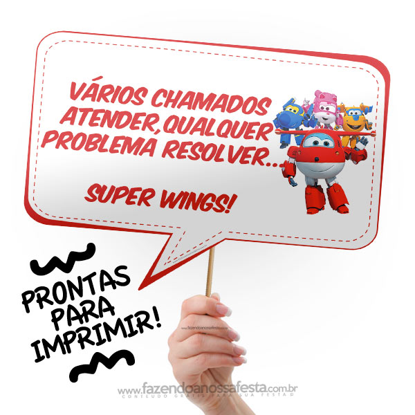 Plaquinhas Divertidas Super Wings