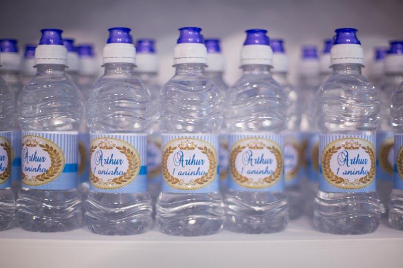 Água personalizada Festa Pequeno Príncipe do Arthur