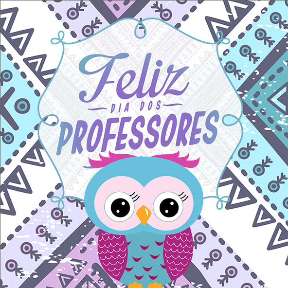 Aromatizador de Ambiente 2 Dia Dos Professores Coruja Roxa e Azul