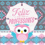 Aromatizador de Ambiente Dia Dos Professores Coruja Rosinha e Azul