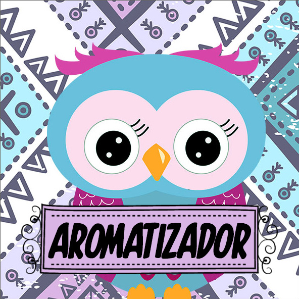 Aromatizador de Ambiente Dia Dos Professores Coruja Roxa e Azul