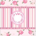Bala Personalizada Coroa de Princesa Rosa Floral