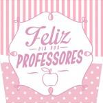 Balde de Pipoca Dia dos Professores Corujinha Rosa