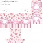 Baleiro Coroa de Princesa Rosa Floral