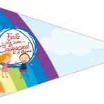 Bandeirinha Sanduiche 2 Dia das Crianças Lembrancinha