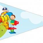 Bandeirinha Sanduiche 3 Dia das Crianças Lembrancinha