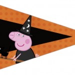 Bandeirinha Sanduiche 3 Peppa Pig Halloween