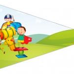 Bandeirinha Sanduiche 4 Dia das Crianças Lembrancinha