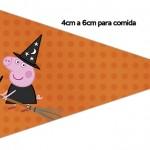 Bandeirinha Sanduiche 4 Peppa Pig Halloween