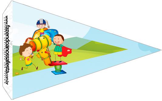 Bandeirinha Sanduiche 5 Dia das Crianças Lembrancinha