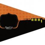 Bandeirinha Sanduiche 6 Peppa Pig Halloween