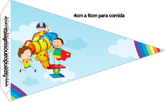 Bandeirinha Sanduiche Dia das Crianças Lembrancinha