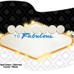 Bandeirinha Sanduiche Kit Festa Las Vegas Poker