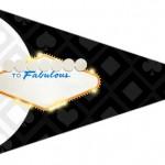 Bandeirinha Sanduiche Kit Festa Las Vegas Poker 6