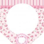 Bandeirinha Varalzinho Coroa de Princesa Rosa Floral