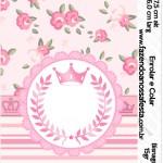 Bisnaga Brigadeiro 15gr Coroa de Princesa Rosa Floral